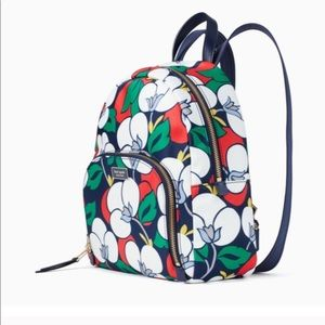 Kate Spade floral backpack red green blue white